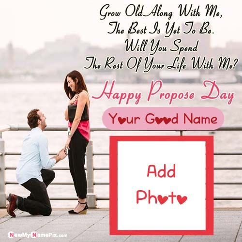 Girlfriend Propose Beautiful Name And Photo Wishes