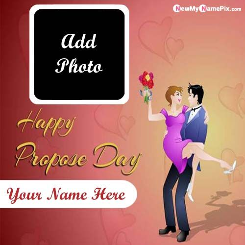 Special Wishes Happy Propose Day Name And Photo Generated
