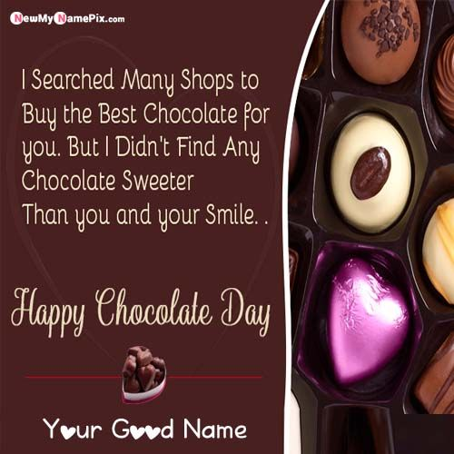 Latest Happy Chocolate Day Message For Lover Name Wishes Pictures