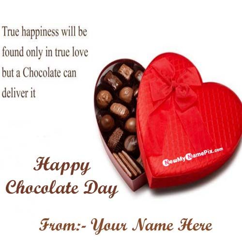 Make Your Name Generate Chocolate Day Picture Create
