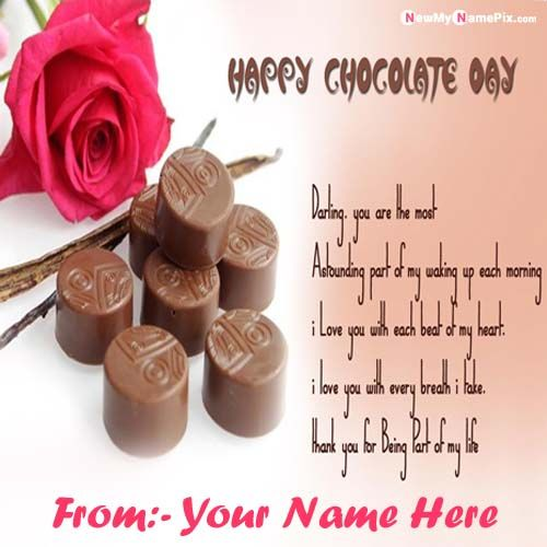 Online My Name Happy Chocolate Day Images Download