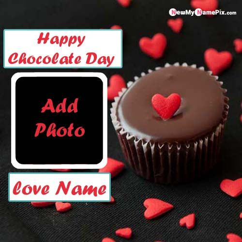 Best Name With Photo Generated Chocolate Day Wishes Pictures