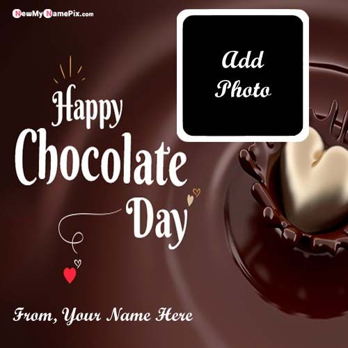 Happy Chocolate Day Boyfriend or Girlfriend Name With Photo Wishes