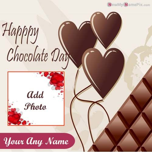 Happy Chocolate Day With Love Name & Photo Create Free