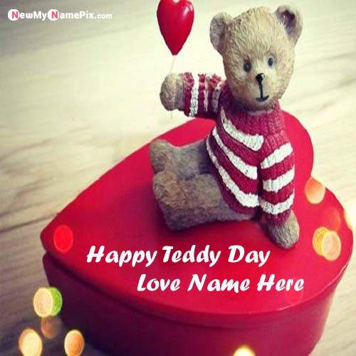 Write Name On Happy Teddy Day Beautiful Pictures Create