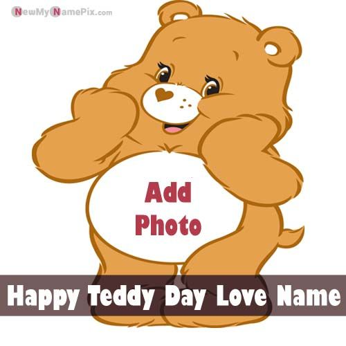 Girlfriend Name Cute Teddy Day Wishes Name And Photo Send