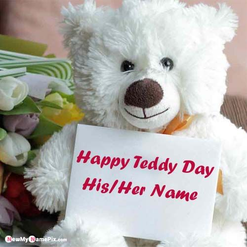 Beautiful Cute Teddy Day Images With Your Name Free Download