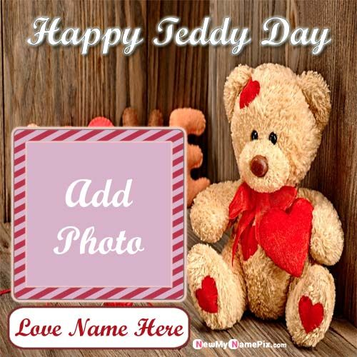Best Name & Photo Creating Happy Teddy Day Images Online Sending