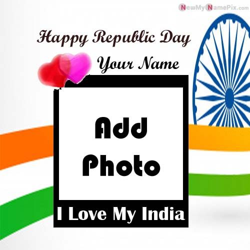 Republic Day Indian Flag Profile My Photo With Name Pictures