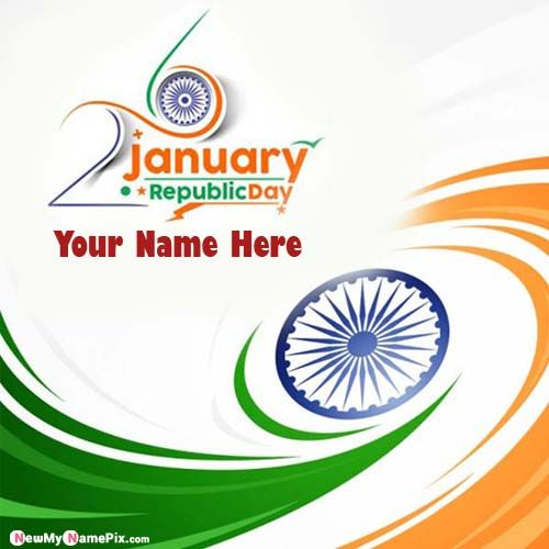 Indian Happy Republic Day Profile My Name Write Images Create