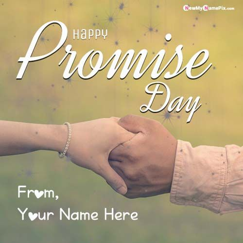 Write Name On Happy Promise Day Pictures Creating Online