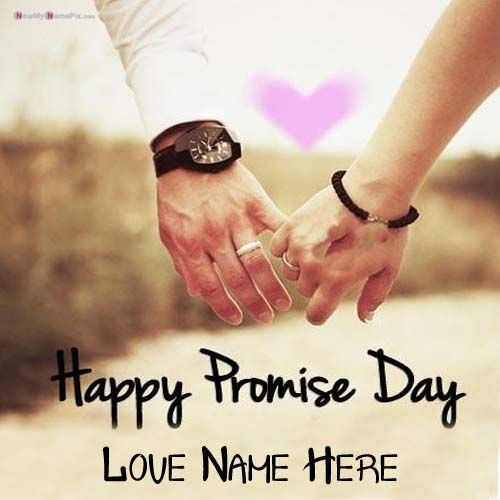 Promise Day Wishes My Name Print Greeting Pictures Create