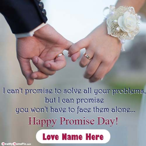 Make Your Name Love Promise Day Message Photos Download