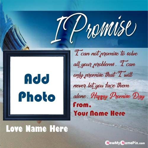 Happy Promise Day Lover Photo With Name Message Cards