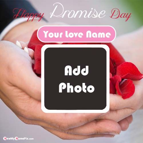 Create Girl or Boy Photo Frame Promise Day Greeting Cards