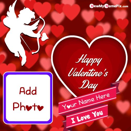 Write Name And Photo Add Valentines Day Card Created Online