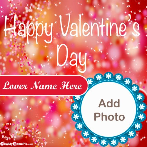 Wonderful Valentine Day Picture For Love Name And Photo Add