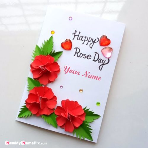 Best New Collection Happy Rose Day Images With Name Editor