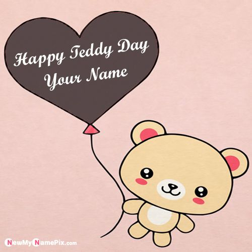 Happy Teddy Day With Husband Name Wishes Pictures Online