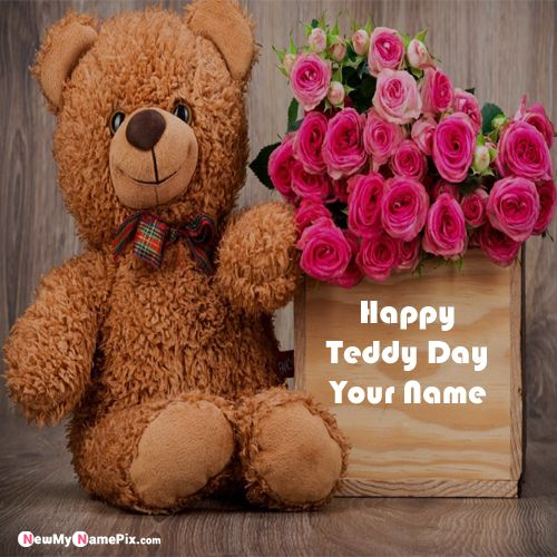 Latest Best Collection Cute Teddy Bear Day Images With Boyfriend Name Pics