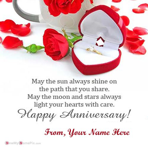 Love quotes shayari anniversary wishes card picture on write name
