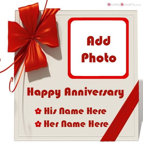 Create custom name and photo add anniversary wishes profile picture