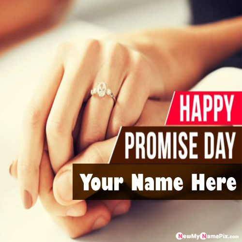 Personalized Name Love Forever Promise Day Pic Free Editor