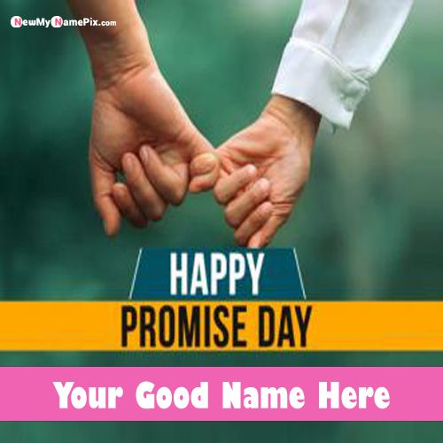 Custom Name Write Happy Promise Day Images