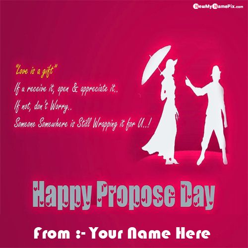 Write Name On Happy Propose Day Image Download