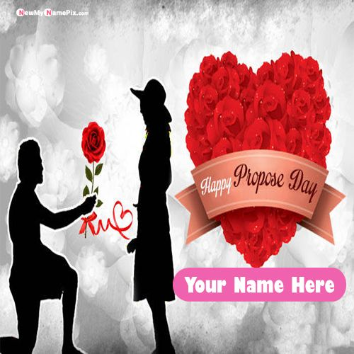 Love Propose Day Picture For Name Proposal Card