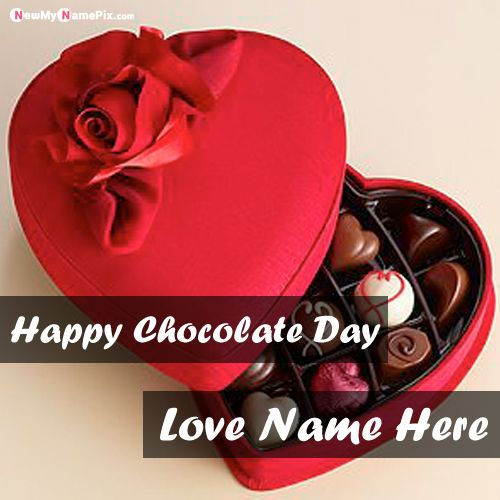Special Happy Chocolate Day Images With Name Quotes Card