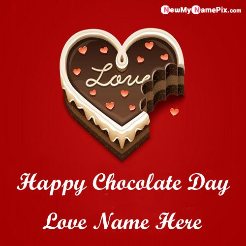 Best Name Wishes Lover Send Happy Chocolate Day Greetings Pic