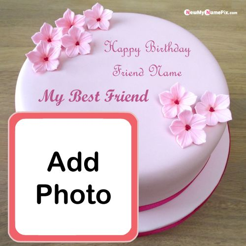 Birthday cake with name photo edit online wishes images