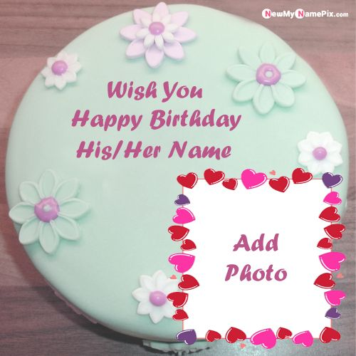 Groovy Happy Birthday Cake With Name And Photo Frame Edit For Friend Wishes Funny Birthday Cards Online Chimdamsfinfo