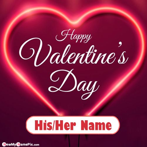 Girlfriend Name Valentines Day Wishes I Love You Wish Card Create Online