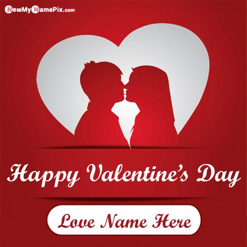 Valentine Wishes For Boyfriend Name Picture Send Free Online