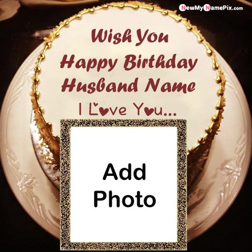 Husband name and photo birthday cake images download