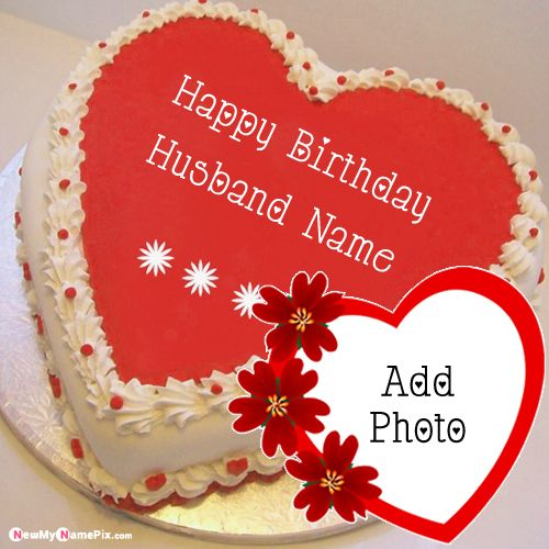 Marvelous Red Heart Birthday Cake For Husband Wishes Images With Name Photo Funny Birthday Cards Online Fluifree Goldxyz