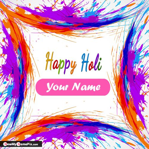 Write Name On Happy Holi Wishes Pictures Download