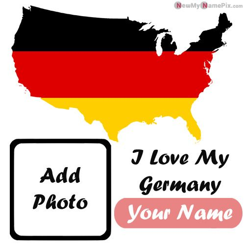 I Love My Germany Profile Picture With Name And Photo