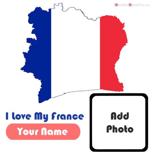 France My Love Country Profile Image With Name And Photo