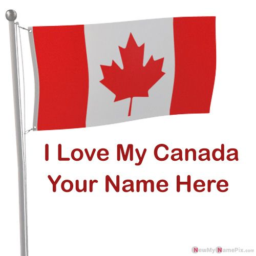 Love My Canada Country Flag Profile Image With Name Photo
