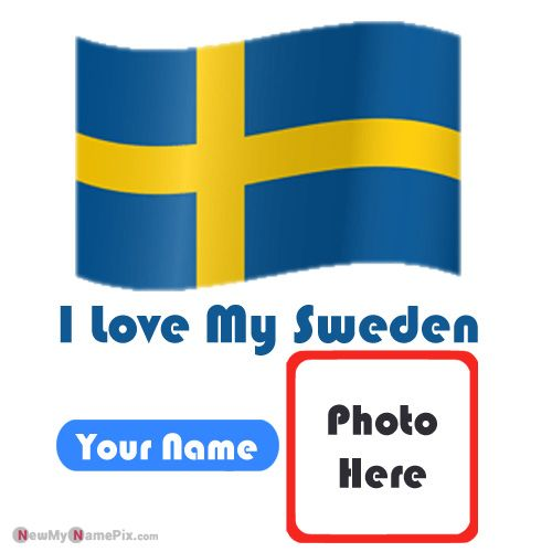 I Love Sweden Flag With My Name And Photo Profile Pictures