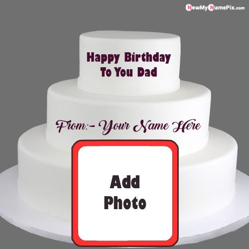 Wishes you happy birthday dad photo cake with name images