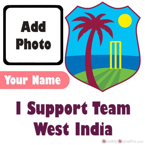 I Support West India Cricket Team Love Profile With Name And Photo Frame