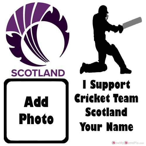 I Support Scotland Cricket Team Love Profile With Name And Photo Frame