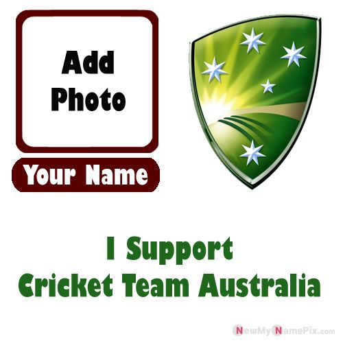 I Support Australia Cricket Team Love Profile With Name And Photo Frame