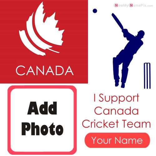 I Support Canada Cricket Team Love Profile With Name And Photo Frame