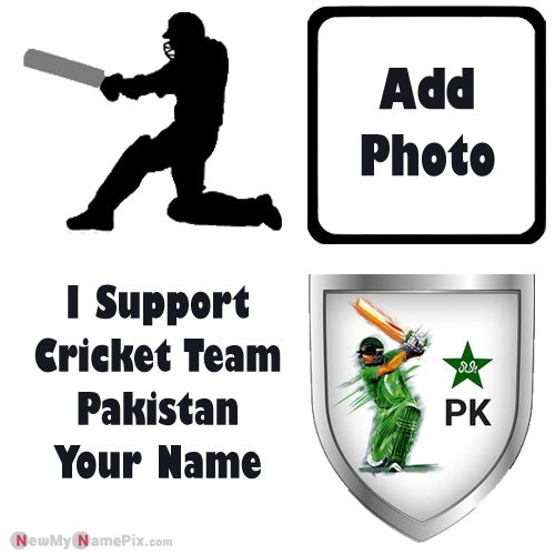 I Support Pakistan Cricket Team Love Profile With Name And Photo Frame