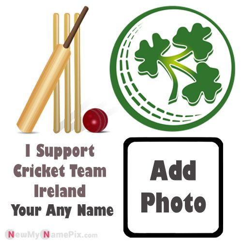 I Support Ireland Cricket Team Love Profile With Name And Photo Frame